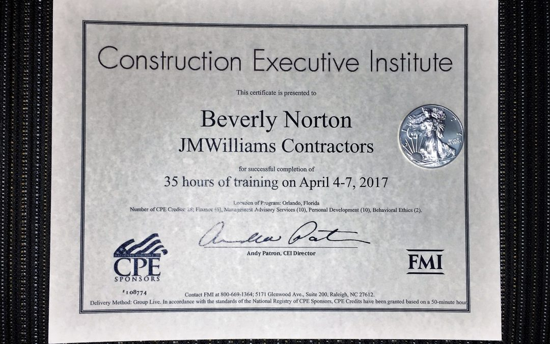 Beverly Norton shines at CEI's intensive continuing education competition